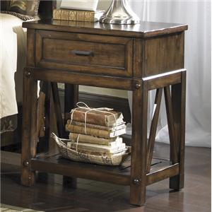 Coastal Distressed Brown Drawer Nightstand Eco Jack By Panama - Panama jack bedroom furniture