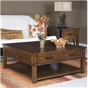 Panama Jack by Palmetto Home Eco Jack Square Lift-Top Cocktail Table with 2 Drawers - 101-­801