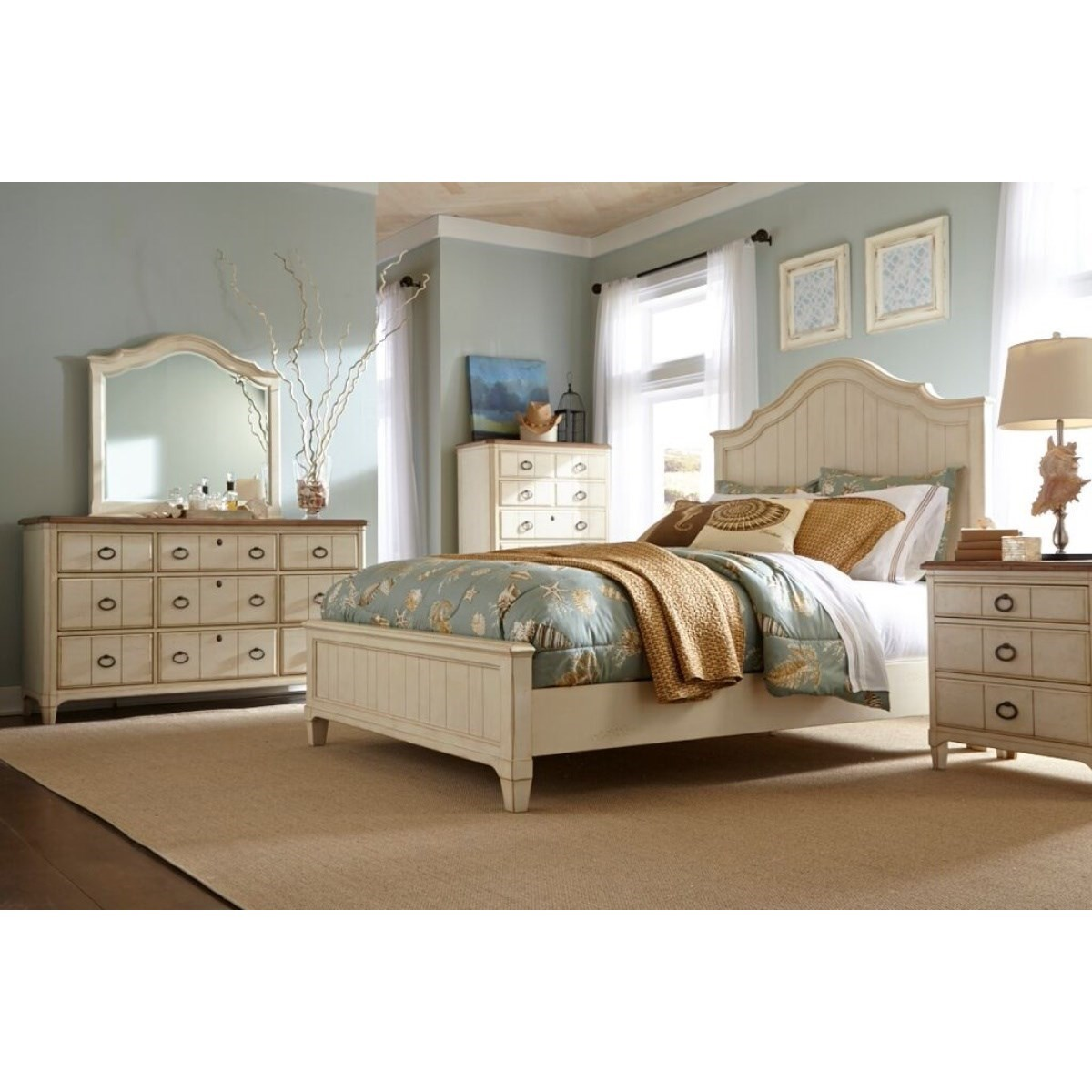 Panama Jack by Palmetto Home Millbrook Queen Bedroom Group - Item Number: 112 Q Bedroom Group 1