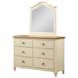Dresser and Mirror Set