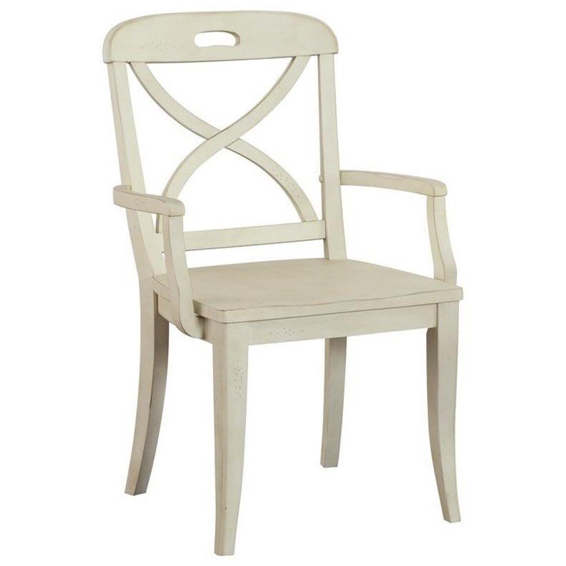 Panama Jack by Palmetto Home Millbrook X Back Dining Arm Chair - Item Number: 112-633A