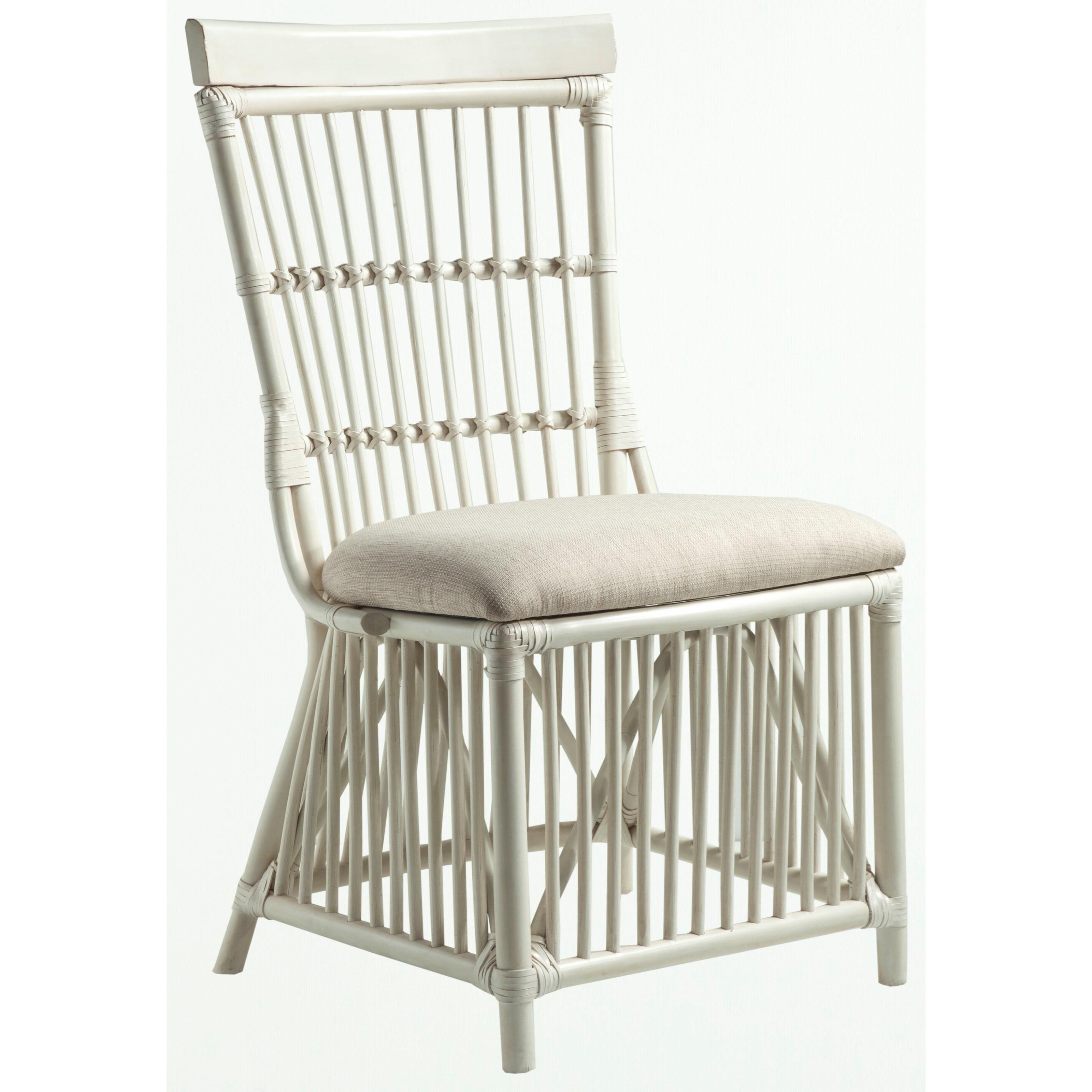 Cream Rattan Side Chair