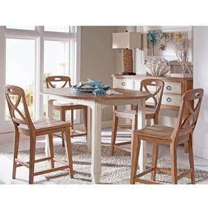 Panama Jack by Palmetto Home Millbrook 5 Piece Counter Height Dining Set