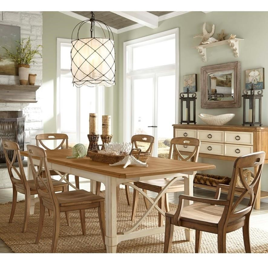 Panama Jack by Palmetto Home Millbrook 7 Piece Dining Set - Item Number: 112-654+2x114-633A+4x114-632S