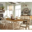 Panama Jack by Palmetto Home Millbrook 7 Piece Dining Set - Item Number: 112-654+2x633A+4x632S