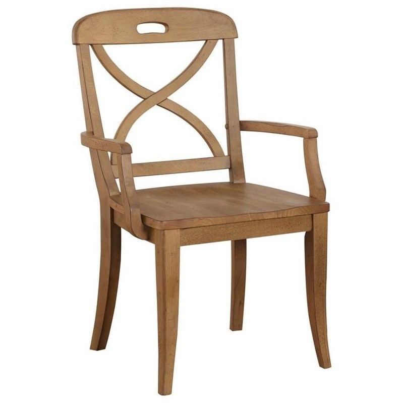 Millbrook X Back Dining Arm Chair by Panama Jack by Palmetto Home at Baer's Furniture