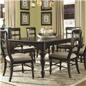 Panama Jack by Palmetto Home Old Havana Traditional Turned Leg Rectangle Dining Table with 18