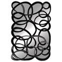Paragon Mirrors Black Interlaced Mirror - Item Number: 8940