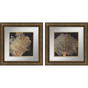 Paragon Wall Art Set of 2 Gold Coral I Framed Art