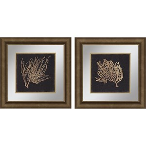 Paragon Wall Art Set of 2 Gold Coral II Framed Art