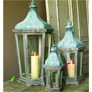 Park Hill Collection Vintage Home Decor Wooden Metal Lantern