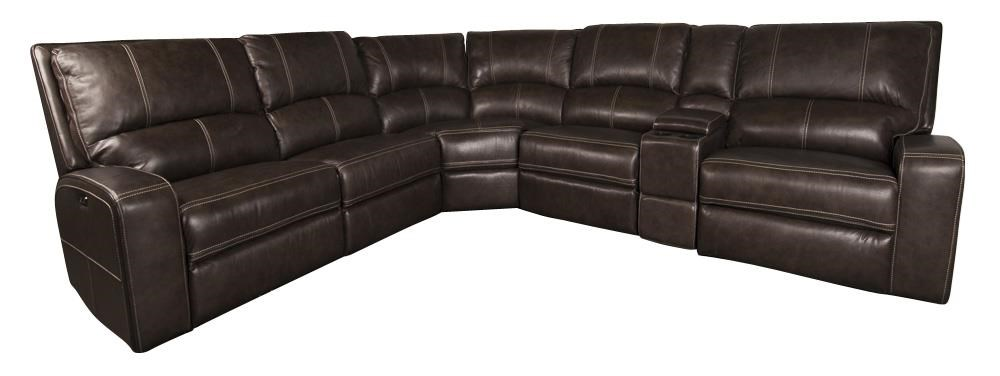 Parker House Alta Leather Match Power Sectional With Power