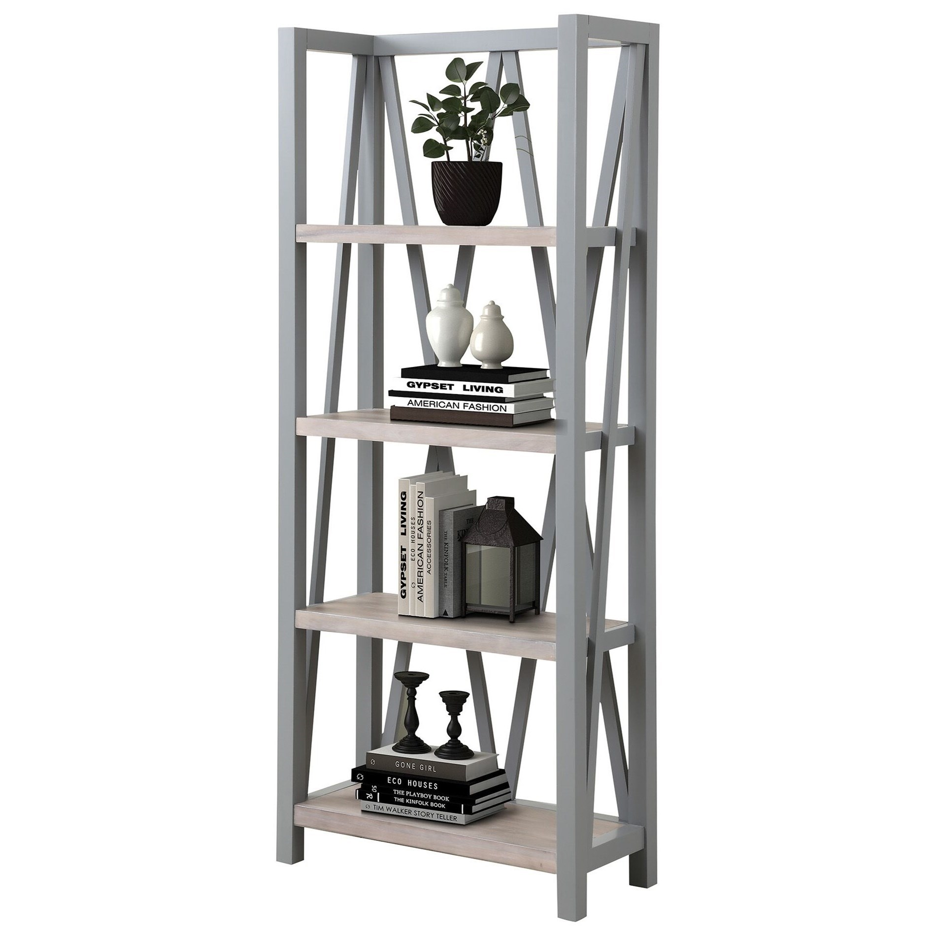 Americana Modern Etagere Bookcase by Parker House at Furniture and ApplianceMart
