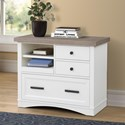Parker House Americana Modern Functional File w/ Power Center - Item Number: AME-342F-COT