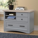 Parker House Americana Modern Functional File w/ Power Center - Item Number: AME-342F-DOV