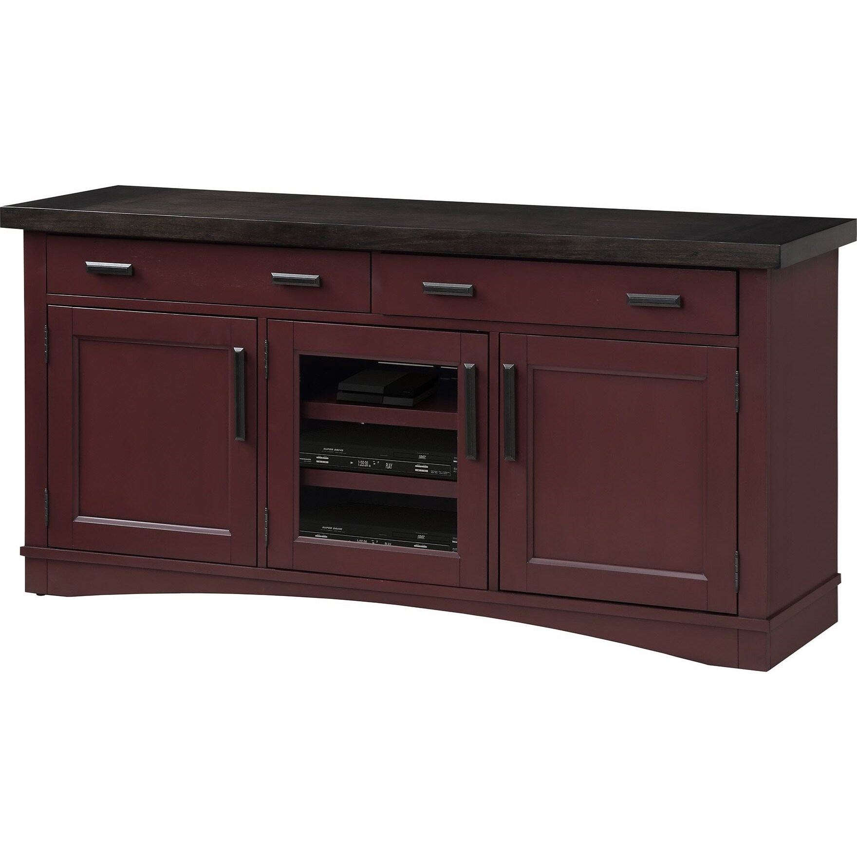 """Americana Modern 63"""" TV Console with Power Center by Parker House at Pilgrim Furniture City"""