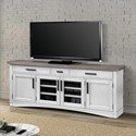 "Parker House Americana Modern 76"" TV Console with Power Center - Item Number: AME-76-COT"