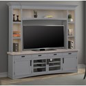 Parker House Americana Modern Entertainment Wall Unit - Item Number: AME-92-3-DOV