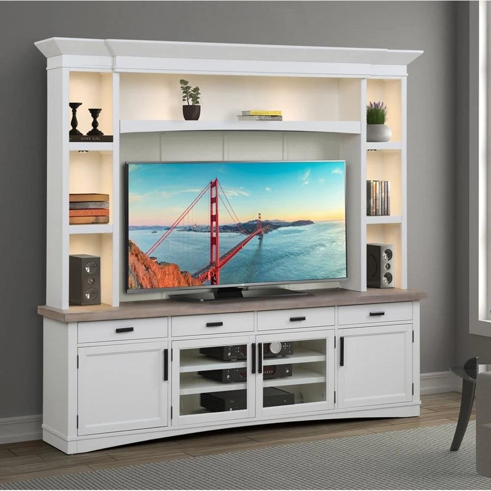 Americana Modern Entertainment Wall Unit by Parker House at Pilgrim Furniture City