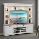 Paramount Furniture Americana Modern Entertainment Wall Unit - Item Number: AME-92-4-COT