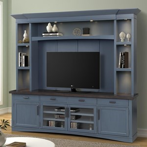 Entertainment Wall Unit with LED Lights