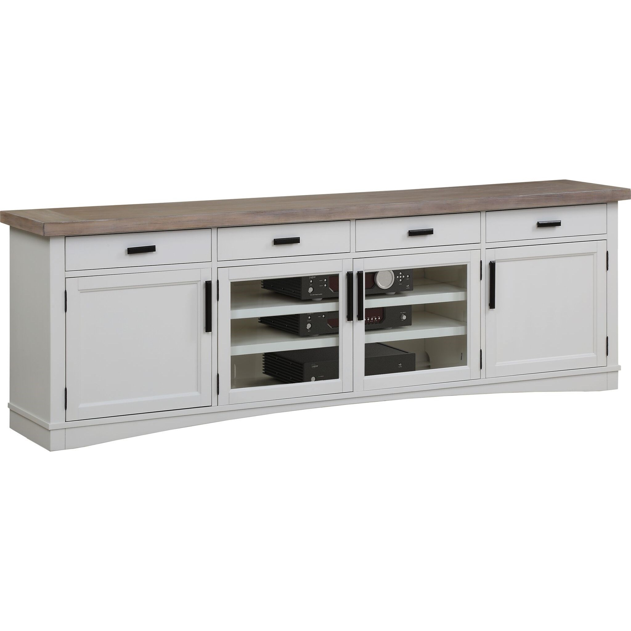 "Americana Modern 92"" TV Console with Power Center by Parker House at Baer's Furniture"