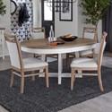 Paramount Furniture Americana Modern 5-Piece Dining Set - Item Number: DAME-48RND-COT+4x2218