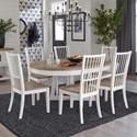 Paramount Furniture Americana Modern 7-Piece Dining Set - Item Number: DAME-48RND-COT+6X2018-COT
