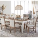 Paramount Furniture Americana Modern 7-Piece Dining Set - Item Number: DAME-60RECT-COT+6x2218