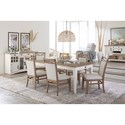 Paramount Furniture Americana Modern Formal Dining Room Group - Item Number: DAME Dining Room Group 7