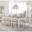 Paramount Furniture Americana Modern 9-Piece Dining Set - Item Number: DAME-60RECT-COT+8x2018-COT
