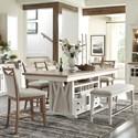 Paramount Furniture Americana Modern 6-Piece Pub Dining Set - Item Number: DAME-72CH-2-COT+4x2226+1226-COT