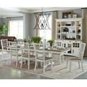 Paramount Furniture Americana Modern 9-Piece Dining Set - Item Number: DAME-88TRES-2-COT+8x2018