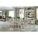 Paramount Furniture Americana Modern Formal Dining Room Group - Item Number: DAME Dining Room Group 14