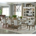 Paramount Furniture Americana Modern 9-Piece Dining Set - Item Number: DAME-88TRES-2-COT+8x2218