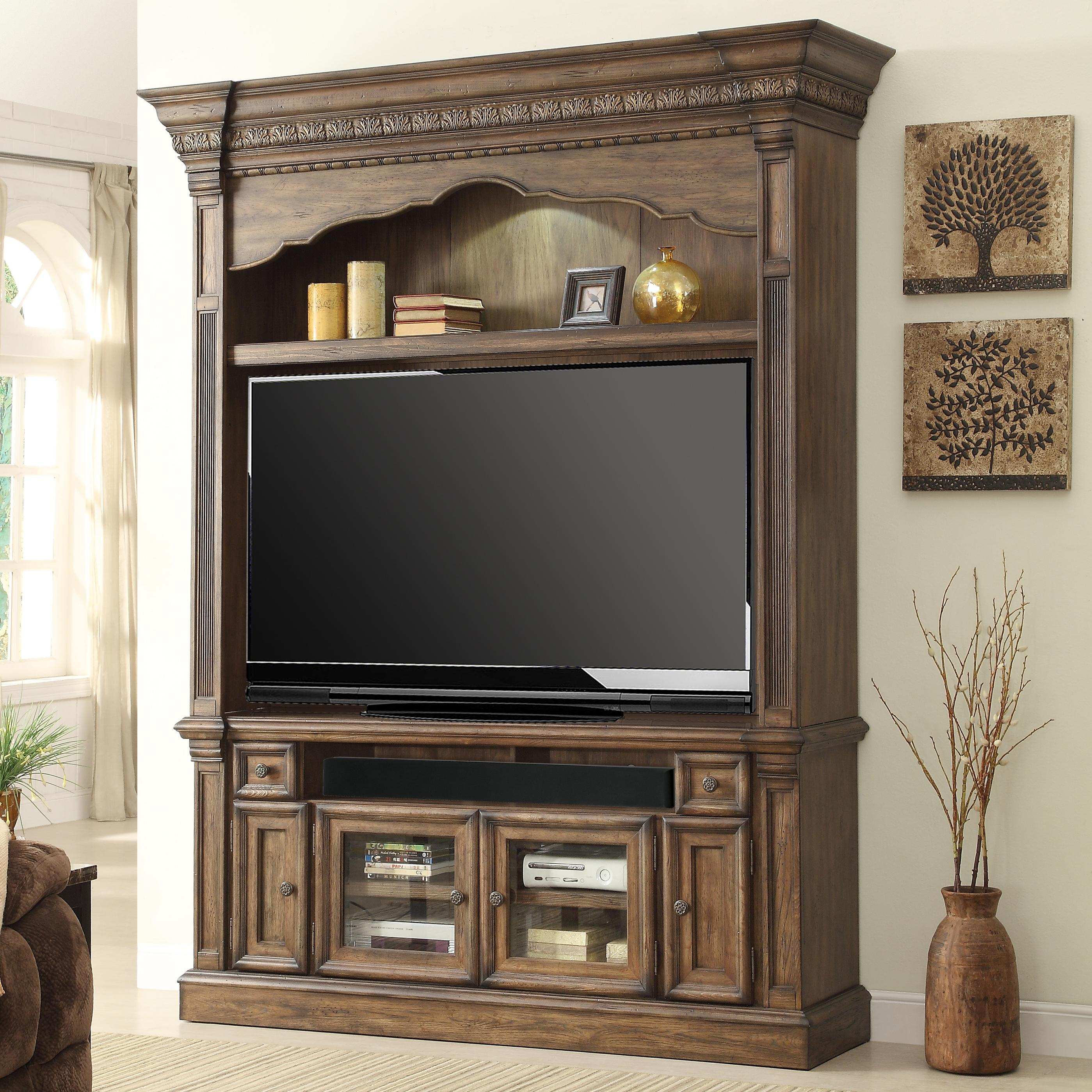 Parker House Aria Library 2 Piece Entertainment Center - Item Number: ARE 600-2EC