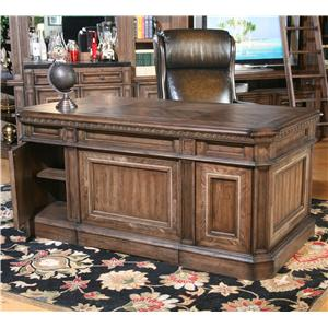 Parker House Aria Library Double Pedestal Desk