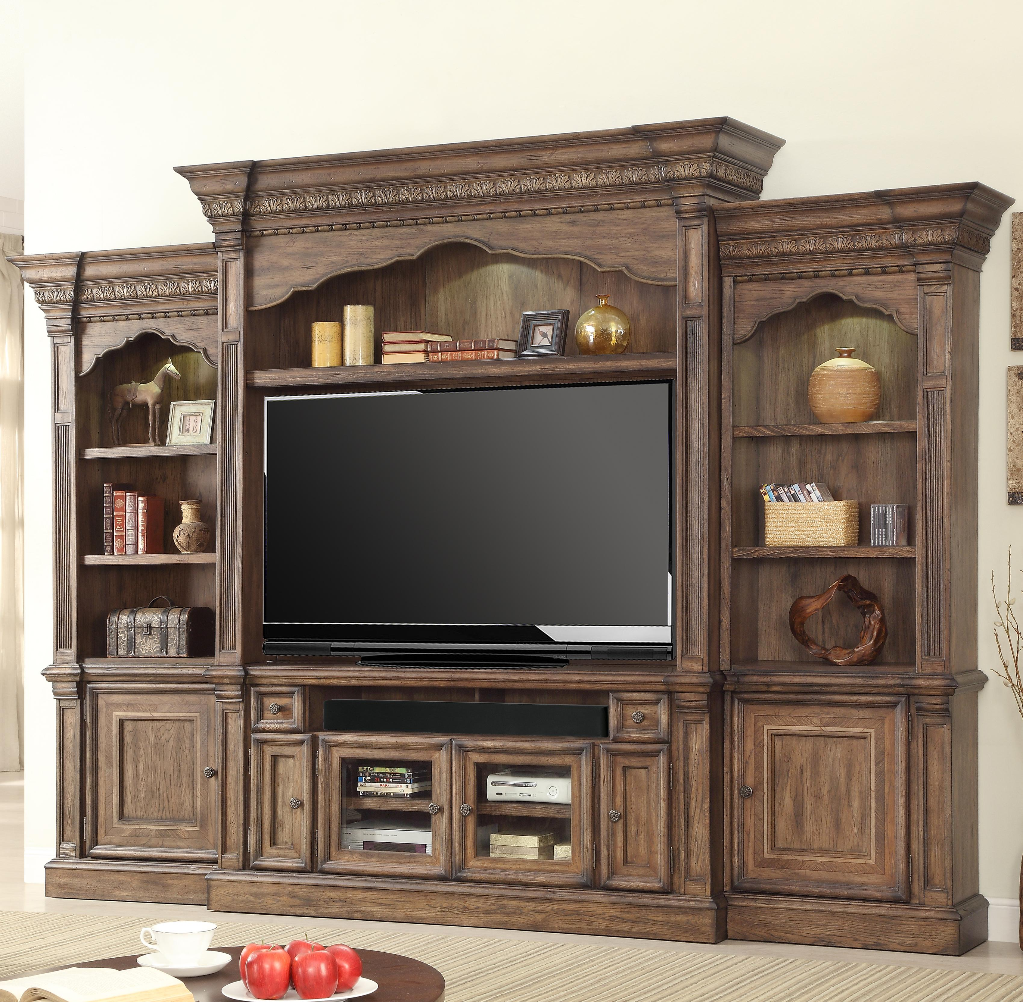 Parker House Aria Library 5 Piece Wall Entertainment Center - Item Number: ARI 600-4WS
