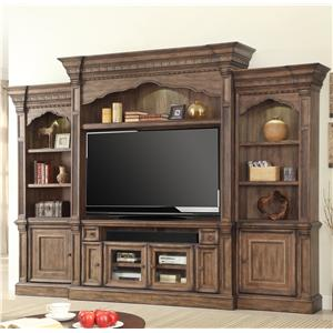 Parker House Aria Library 5 Piece Wall Entertainment Center