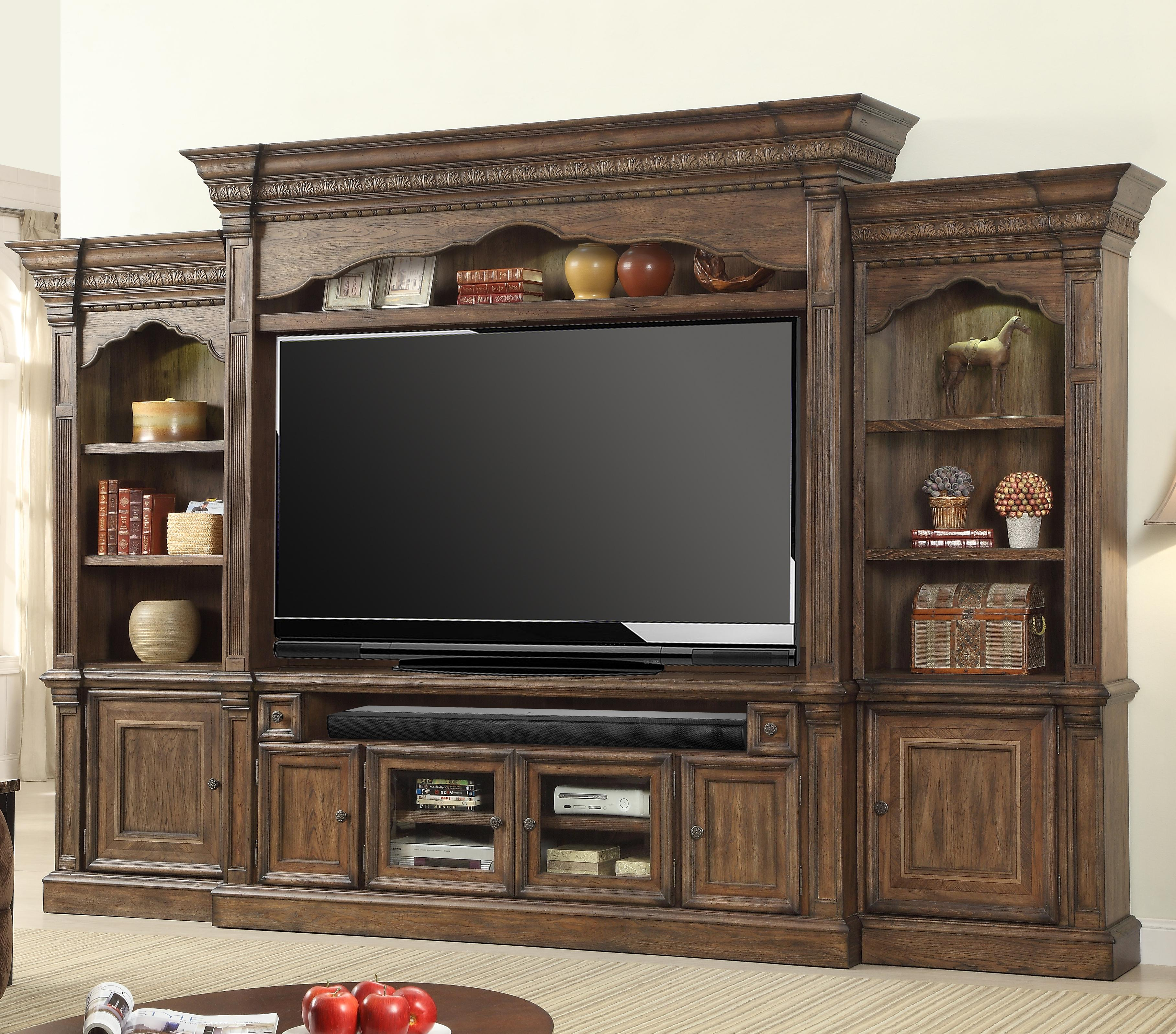 Parker House Aria Library 5 Piece Wall Entertainment Center - Item Number: ARI 610-4WS