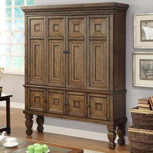 Parker House Aria Library 2 Piece Entertainment Armoire