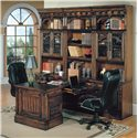 Parker House Barcelona Office File Cabinet - Rolling File Shown in Room Setting with Peninsula Desk and Wall Unit