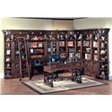 Parker House Barcelona Large Home Office Bookcase Unit - Item Number: Bar-LHO