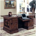 Parker House Barcelona Dbl. Pedestal Executive Desk - Item Number: Bar480_3
