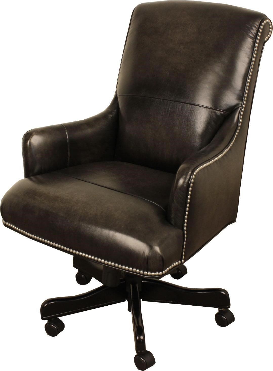 Morris Home Furnishings Bellmont Leather Bellmont Leather Desk Chair - Item Number: 744692626
