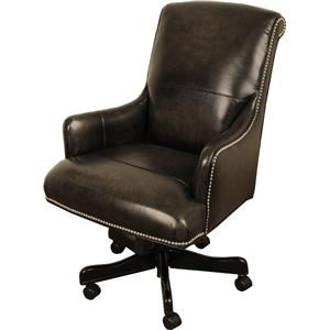 Morris Home Furnishings Bellmont Leather Bellmont Leather Desk Chair