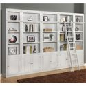 Parker House Boca Expanded Library Wall Unit - Item Number: BOC-2x420+3x430