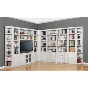 Eleven-Piece Deluxe Entertainment Center Two-Wall Unit