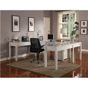 Parker House Boca Five-Piece U-Shaped Desk with 5 Drawers