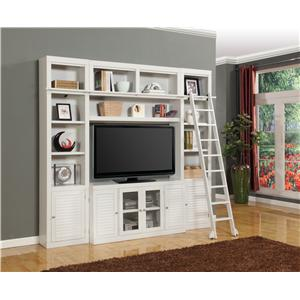 Parker House Boca Four-Piece Entertainment Center Bookcase